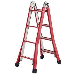 Escada Regulável Doméstica de Aço com 4 Degraus