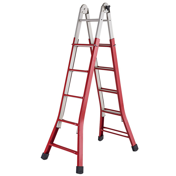 Escada Regulável Doméstica de Aço com 5 Degraus