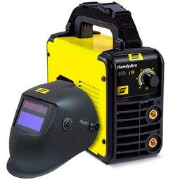 Kit Inversora de Solda ESAB-0734002 HandyArc 140A 220V + Máscara para Solda com Sensor de Escurecimento