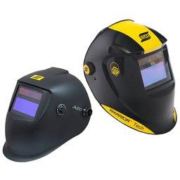 Máscara de Solda ESAB 731219 Automática Warrior Tech Preta + Máscara para Solda A20 ESAB 0735373