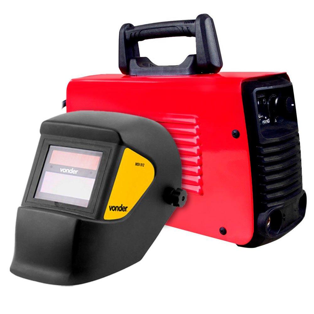 Kit Máquina de Solda FORTGPRO-FG4122 Multifuncional Bivolt + Máscara de Solda com Escurecimento Automático