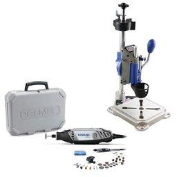 Kit Suporte Vertical DREMEL-MOD-220 para Ferramenta Rotativa + Micro Retífica Série 3000 110V com 2 Acoplamentos e 30 Acessórios