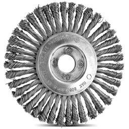 Escova Circular Arame Aço com 32 Tranças 4.1/2 x 1/2 Pol.