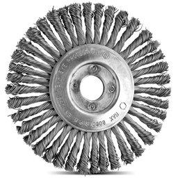 Escova Circular Arame Aço com 39 Tranças 6 x 1/4 Pol.