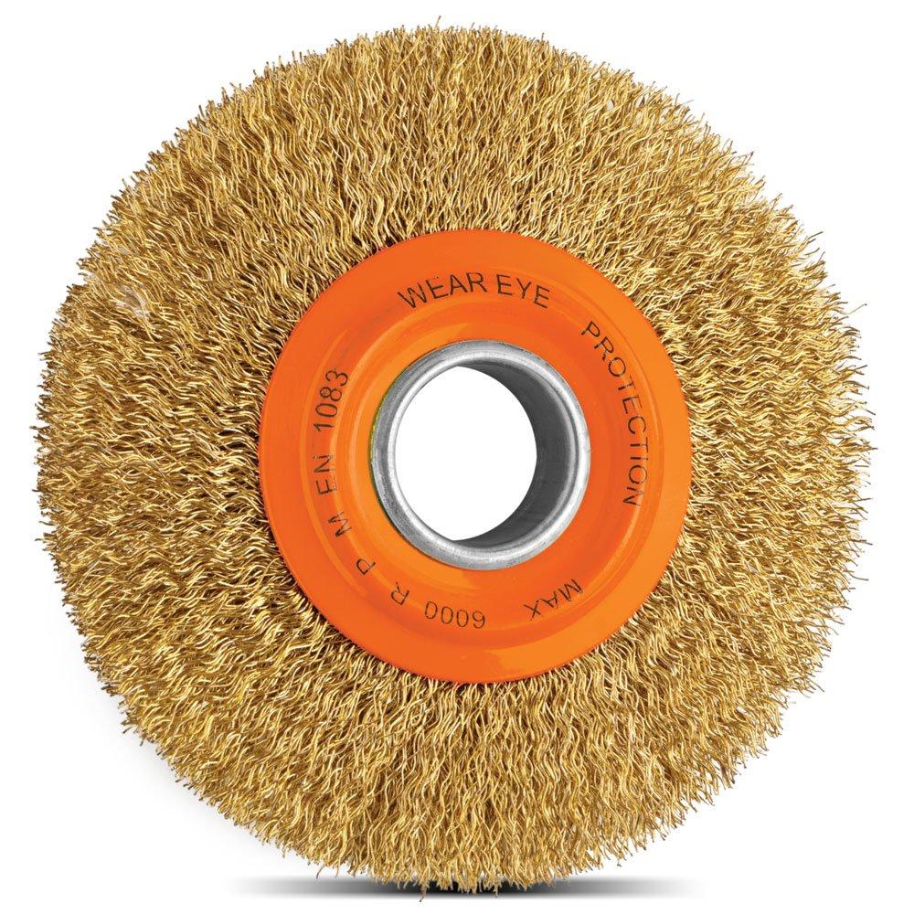 Escova Circular Arame Ondulado Latonado 6 x 3/4 Pol.