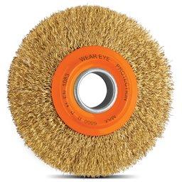 Escova Circular Arame Ondulado Latonado 6 x 1 Pol.
