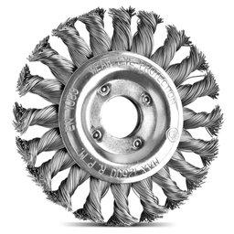 Escova Circular Arame Aço com 20 Tranças 4.1/2 x 1/2 Pol.