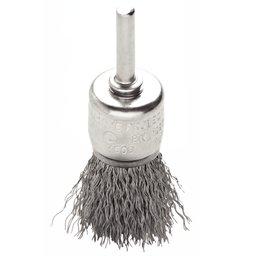 Escova Tipo Pincel de Arame Ondulado Aço 5/8 x 1/4 Pol.
