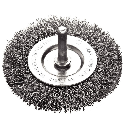 Escova Circular Arame Ondulado Aço 2 x 1/4 Pol.