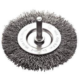 Escova Circular Arame Ondulado Aço 3 x 1/4 Pol.