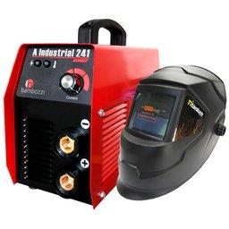 Kit Máquina Inversora de Solda BAMBOZZI 241 200A Bivolt  + Máscara de Solda Automática TITANIUM 5242