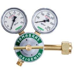Regulador de Pressão Série 100 para Oxigênio com 2 Manômetros