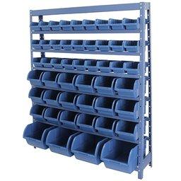Estante Porta Componentes Azul com 49 Caixas Nr. 3, 5 e 7