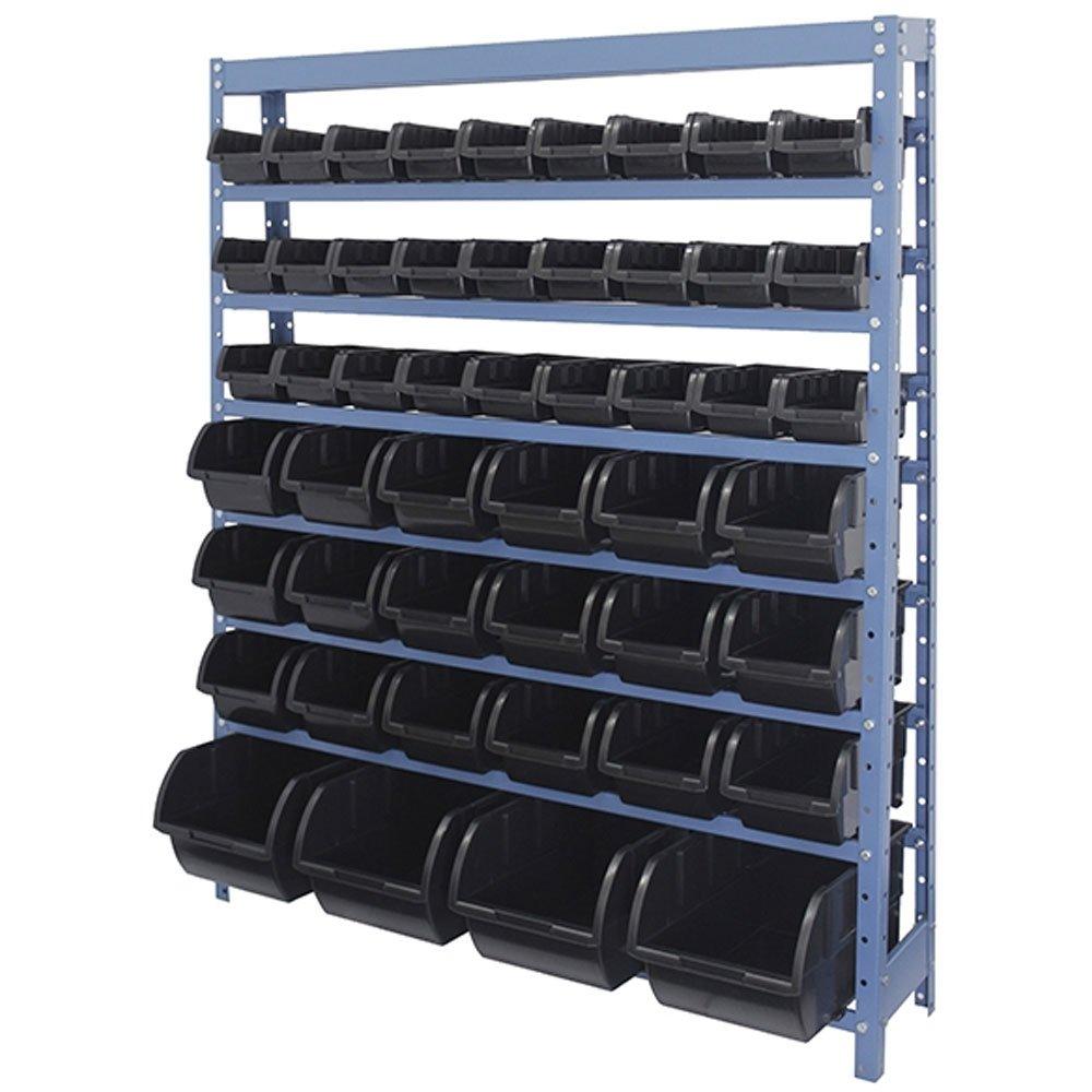 Estante Porta Componentes com 49 Caixas Pretas Nr. 3, 5 e 7