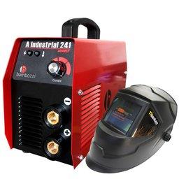 Kit Máquina Inversora de Solda BAMBOZZI A INDUSTRIAL 241 200A Bivolt  + Máscara de Solda Automática TITANIUM 5242