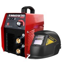 Kit Máquina Inversora de Solda BAMBOZZI A INDUSTRIAL 241 200A Bivolt  + Máscara de Solda LYNUS MSL-350F