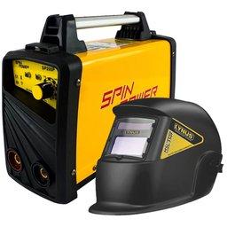 Kit Máquina Inversora de Solda VULCAN 80715 200A Spin Power SP200P + Máscara de Solda LYNUS MSL-350F