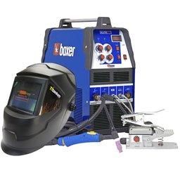 Kit Máquina de Solda BOXER 3005010 Alumínio ALUTIG 200 ACDC + Máscara de Solda Automática TITANIUM 5242