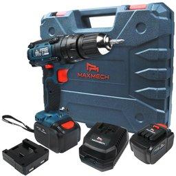 Parafusadeira/Furadeira de Impacto a Bateria 24V Li-Ion com Carregador 2 Baterias e Maleta