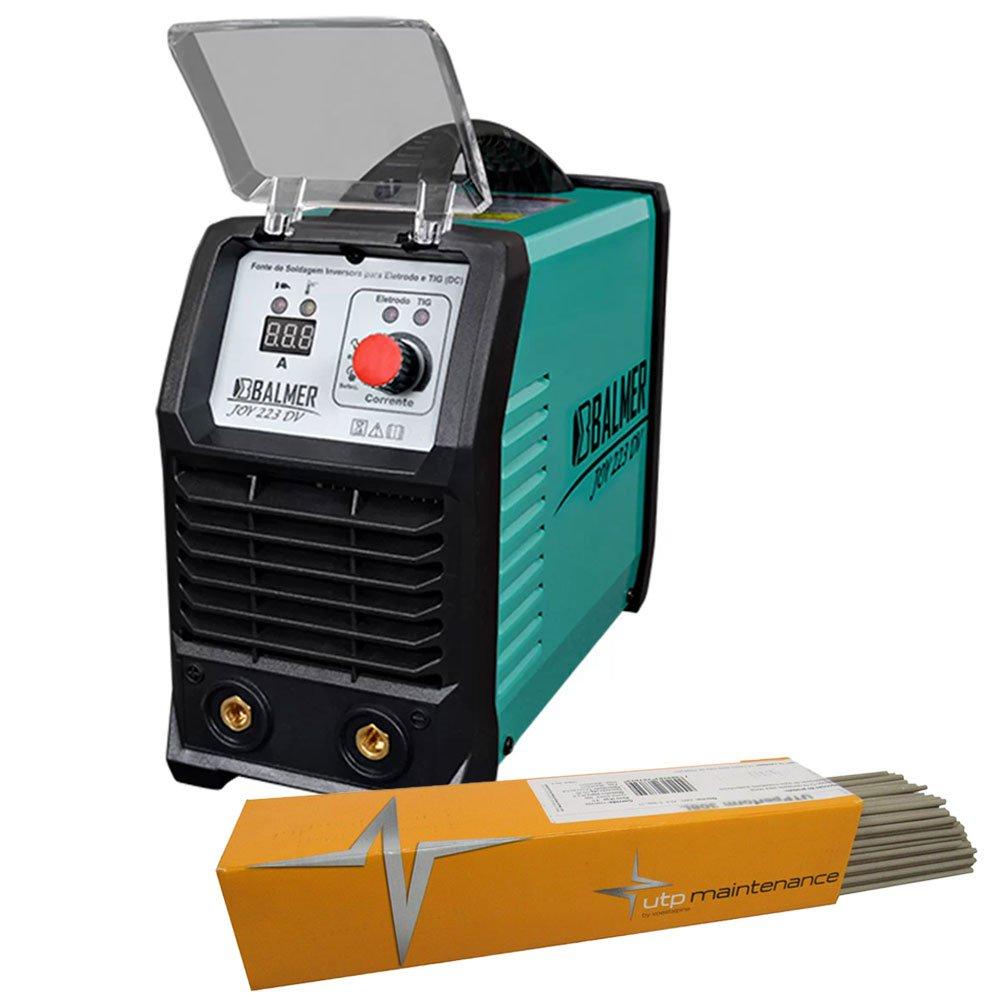 Kit Máquina Inversora Balmer 30179537 TIG Joy 223 DV 200A Bivolt + Eletrodo UTP 31414 3,25mm 1Kg