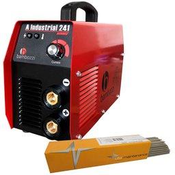Kit Máquina Inversora de Solda Bambozzi A Industrial 241 200A Bivolt + Eletrodo UTP 31414 3,25mm 1Kg