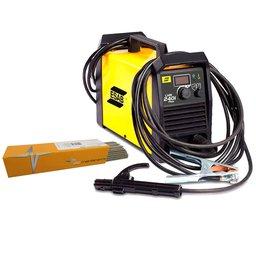 Kit Máquina de Solda Inversora Esab 0733920 LHN 240i Plus 200A + Eletrodo UTP-31414 1Kg