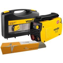 Kit Máquina de Solda Inversora Vonder 6878120220 RIV 120A 220V + Eletrodo UTP 31398 2,0mm 1Kg
