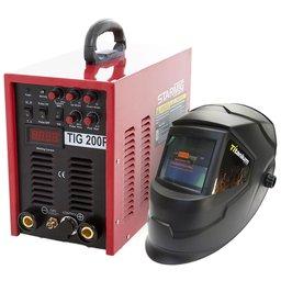 Kit Máquina de Solda Inversora Starmig TIG200 P 220V + Máscara de Solda Automática Titanium 5242