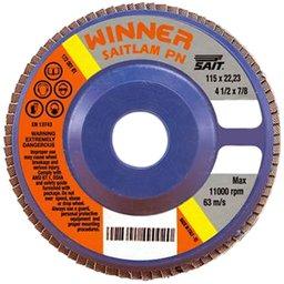 Disco Flap Zircônio 4.1/2 Pol. Grão 120