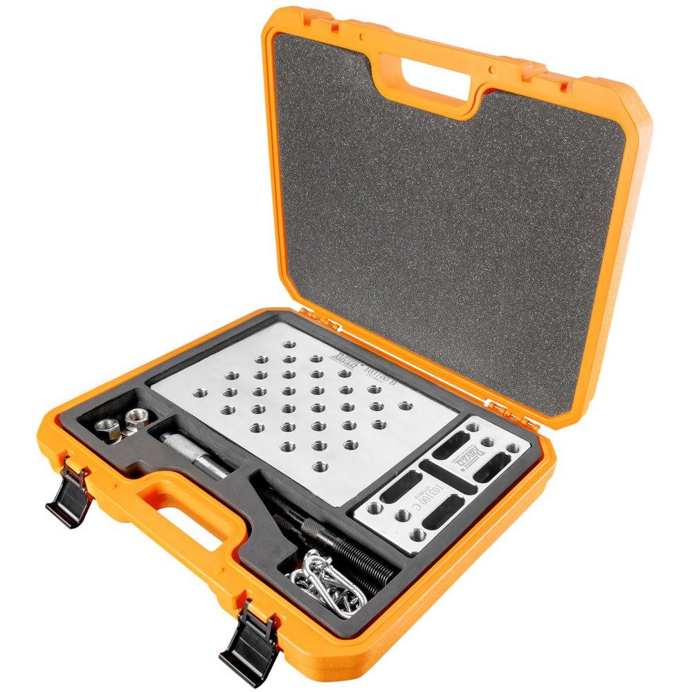 Kit de Ferramentas para Extrair e Instalar Rolamentos de Roda Dianteiros e Apoiar Mangas de Eixo com 29 Peças