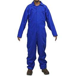 Macacão Industrial Brim Pesado Azul Manga Longa Tamanho M