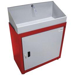 Lavadora de Peças Fechada Vermelha 35W 220V com Reservatório 20 Litros
