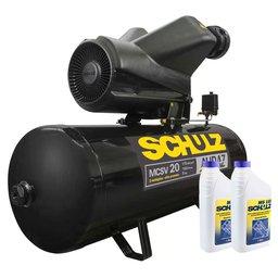 Kit Compressor de Ar SCHULZ-MCSV20/150 Audaz 20 Pés Trifásico 220/380V + 2 Óleos Lubrificantes SCHULZ-0100011-0 1 L