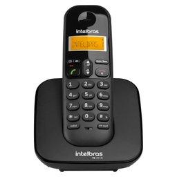 Telefone sem Fio Preto com Display Luminoso e Identificação de Chamadas