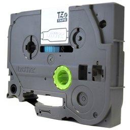 Fita para Rotulador Preto sobre Prata 24mm x 8m