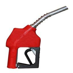 Bico Automático de Abastecimento Vermelho 150l/min com Ponteira Curta 1Pol.