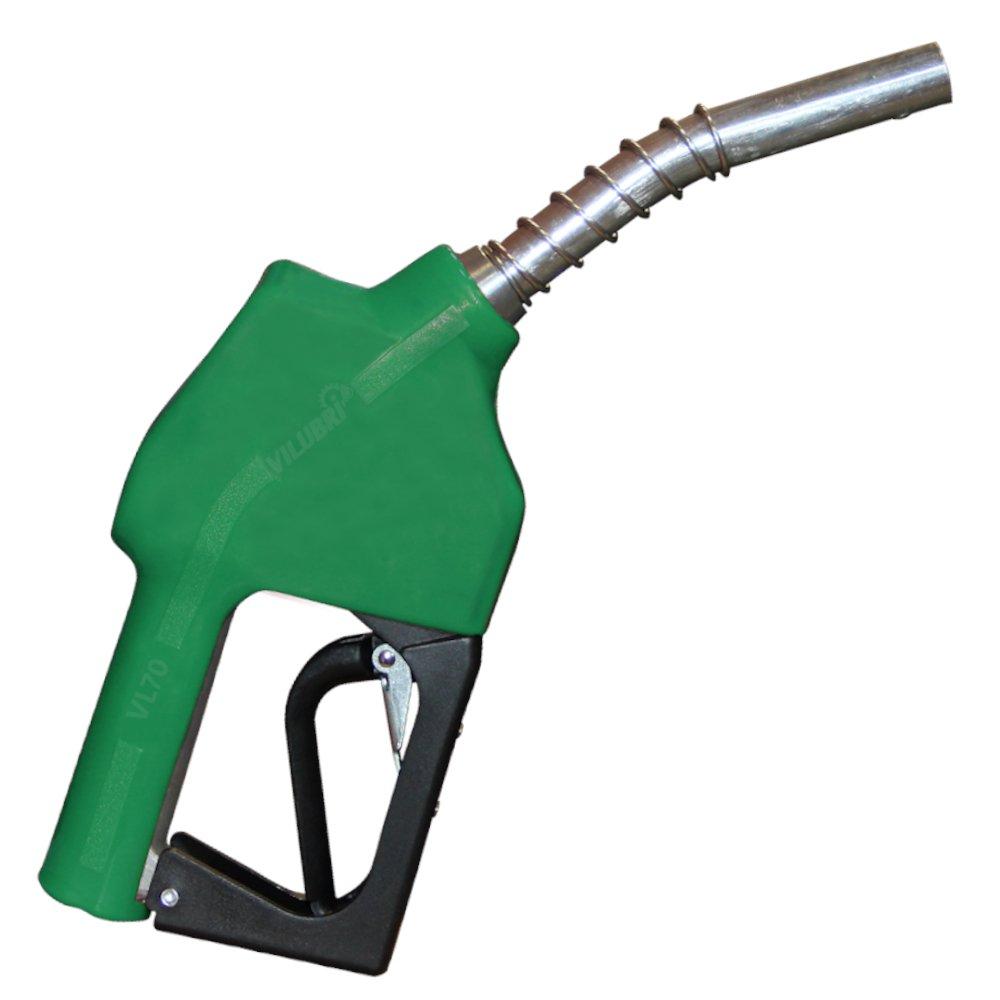 Bico Automático de Abastecimento Verde 70l/min com Ponteira Curta 3/4Pol.