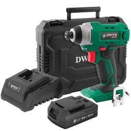 Kit Parafusadeira com Impacto DWT-6014181800 18V + Carregador de Bateria DWT-6014180500 + Bateria DWT-6014180200