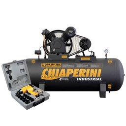 Kit Compressor CHIAPERINI 690 Industrial 20+APV 20 Pés 250 Litros + Chave de Impacto de 1/2 Pol. 16 Peças