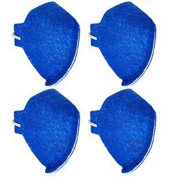 Kit 4 Máscaras Respiratórias Semifacial N95 Antiviral PFF2 sem Válvula