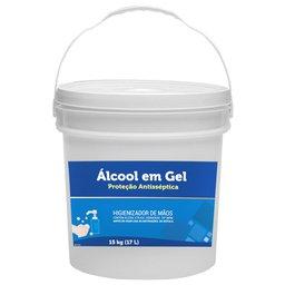 Álcool em Gel Higienizante 70% Qualygel 15Kg/ 17 Litros