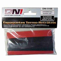 Kit Espaguete Termo Retrátil 8mm Contração 2:1 com 15 Peças