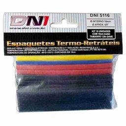 Kit Espaguete Termo Retrátil 16mm Contração 2:1 com 10 Peças