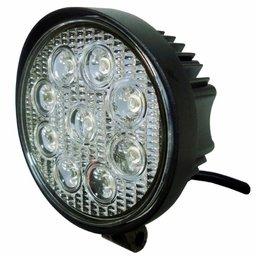 Farol de Trabalho Redondo com LEDs 27W Bivolt