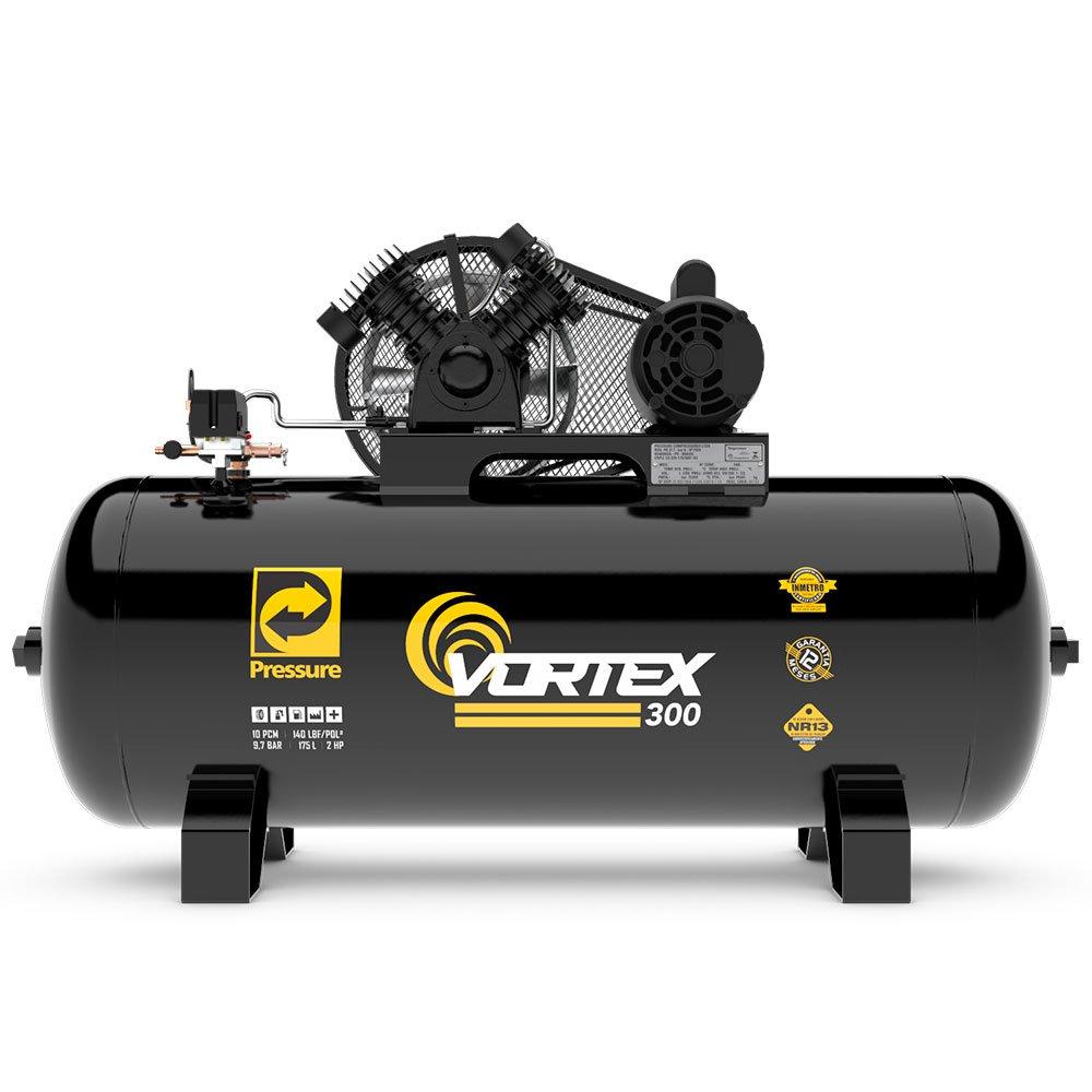 Compressor de Ar Vortex 300 Monofásico 10 Pés 175 Litros 110/220 V