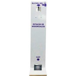 Estação de Higienização de Álcool em Gel com Pedal