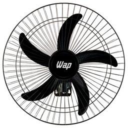 Ventilador de Parede Preto 135W Bivolt com 5 Pás Rajada Pro 60