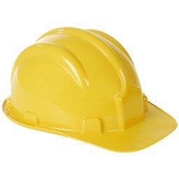 Capacete de Segurança PLT Amarelo com Aba Frontal