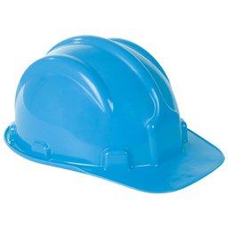 Capacete de Segurança PLT Azul Claro com Aba Frontal