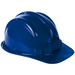 Capacete de Segurança PLT Azul Escuro com Aba Frontal
